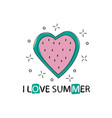 print with watermelon and lettering i love vector image vector image