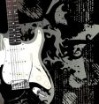 rock and roll guitar vector image vector image