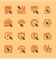 set icons banks and money vector image vector image