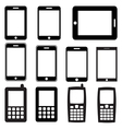 set mobile phones and tablets eps 10 vector image vector image