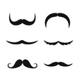 set mustaches isolated on white background vector image vector image