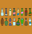 set of different coloured bottles vector image