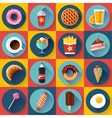 Set of Modern flat icons with FastFood vector image vector image