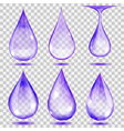 Set of transparent drops vector image vector image