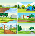 set park background vector image vector image