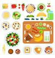 set vegetarian breakfast flat vector image