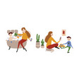 single european mother with son vector image