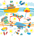 summer vacation pattern vector image vector image