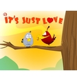 sweet love birds vector image