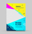 trendy colorful flyer design template vector image