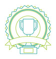 trophy cup winner emblem vector image