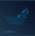 united arab emirates map with cities luminous vector image vector image