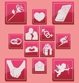 valentine days icon set basic style vector image vector image