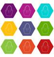 women bag icons set 9 vector image
