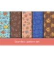 set of seamless floral patterns Decorative vector image