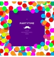 Party time design template with confetti vector image