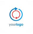 arrow round circle logo vector image