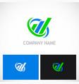 business finance line progress company logo vector image