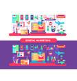 digital marketing design flat vector image