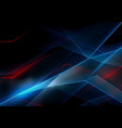 3d glowing neon lines on black background vector image vector image