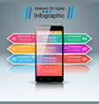 3d infographic smartphone icon vector image vector image
