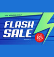 abstract flash sale banner vector image vector image