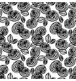 abstract floral seamless pattern with roses vector image vector image