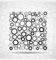 abstract square of circles vector image vector image