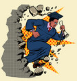 african graduate university college breaks a wall vector image vector image