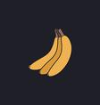 Banana computer symbol vector image