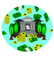 bank money and cash business vector image vector image