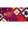 big sale concept banner horizontal with realistic vector image vector image