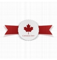 Canada Day greeting realistic Label vector image vector image