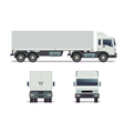 cargo track in three points view isolated on vector image vector image