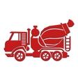 cement mixer car icon vector image