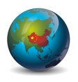China on globe vector image vector image