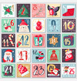 christmas advent calendar winter festive poster vector image