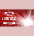 christmas red background merry christmas happy vector image