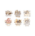 coffee original labels and badges design vector image