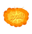 comic book explosion big cartoon vector image