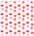 cupcake seamless pattern background vector image vector image