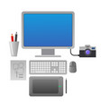 designer work place vector image