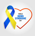 down syndrome day vector image vector image