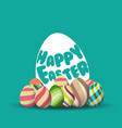 easter egg hunt background for greeting card ad vector image vector image