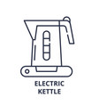 electric kettle line icon concept electric kettle vector image vector image