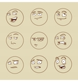 emotional faces vector image vector image