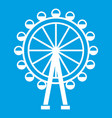 ferris wheel icon white vector image vector image
