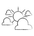 figure clouds with sun natural weather in the sky vector image vector image
