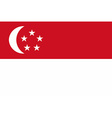 Flag of the Singapore vector image