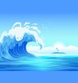 flat ocean wave background vector image